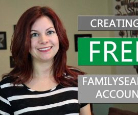 Creating a FREE FamilySearch Account