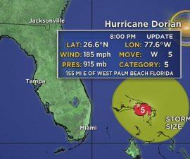 8PM Hurricane Dorian Update: Craig Setzer Has The Latest On Hurricane Dorian